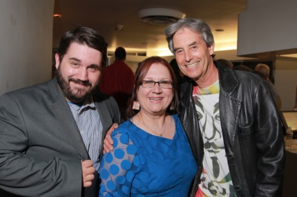"""Young Turks"" associate producer Zach Seemayer with editor Pamela Wilson and director Stephen Seemayer."