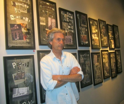 Stephen Seemayer at the District Gallery, which recently hosted an exhibit of the artists' work.