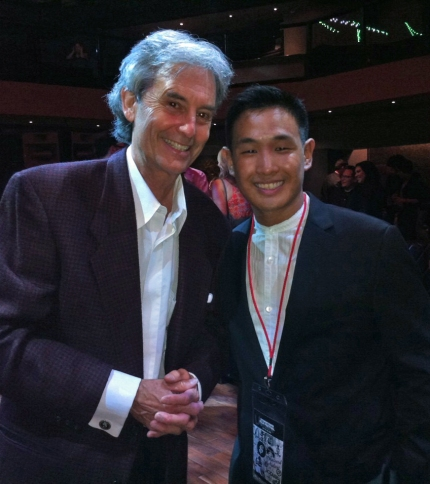 """Young Turks"" director Stephen Seemayer with Jeffrey Gee Chin, director of ""Lil Tokyo Reporter,"" which won the Audience Award for Short Film."