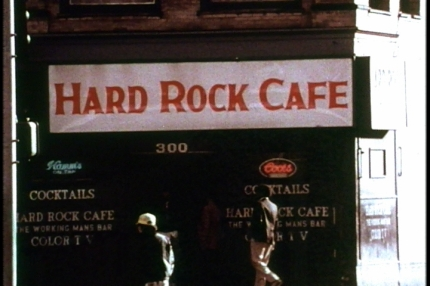 The Hard Rock Café was located on the corner of 5th and Wall.