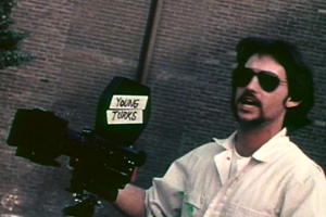 "Multimedia artist Stephen Seemayer in a scene from ""Young Turks,"" a documentary film Seemayer shot in downtown L.A. from 1977-1981. The film has been reedited by Seemayer's wife, Pamela Wilson, and will play at the Downtown Independent from Feb. 8 through Feb. 14, 2013."
