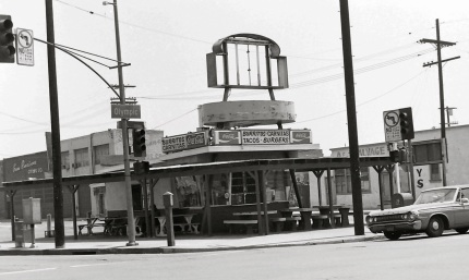 a burrito stand that once occupied the northeast corner of Olympic & Central. Photo by Stephen Seemayer