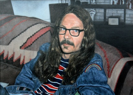 """Portrait of John Schroeder"" (1975), acrylic on canvas. Collection of Susanne Dorschel, Weisbaden, Germany."
